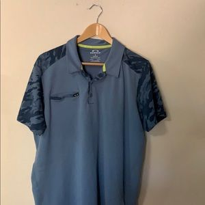Oakley polo with printed sleeves